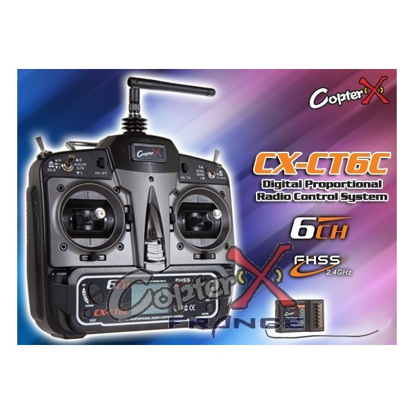 CX-CT6C - 2.4GHz 6CH Transmitter with CX-CR6C Receiver